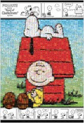 Snoopy and Charlie Brown mosaic