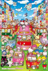 Sanrio characters on parade