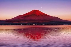 Red Fuji reflections
