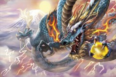 Blue thunder dragon