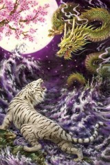 Moonlit tiger and dragon