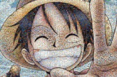 One Piece mosaic