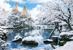 Kenrokuen in snow