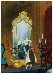 Cinderella at the mirror