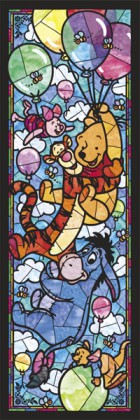 Pooh in stained glass