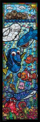 Finding Dory stained glass