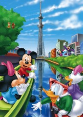 Mickey goes to Sky Tree