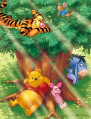 In the shade of a tree (Pooh)